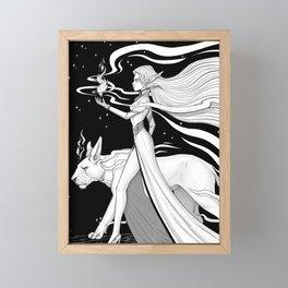 Magic Fire Framed Mini Art Print