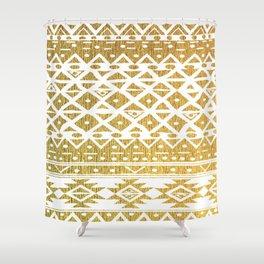 GOLDEN TRIBAL Shower Curtain