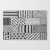 black white Canvas Prints featuring Black&White White&Black by Kaitlyn_Michelle_