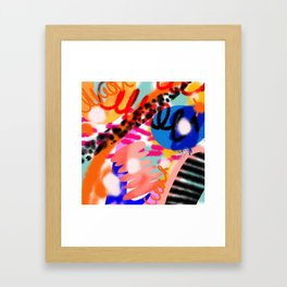 Grell 002 / A Composition Of Abstract Graffiti Shapes Framed Art Print