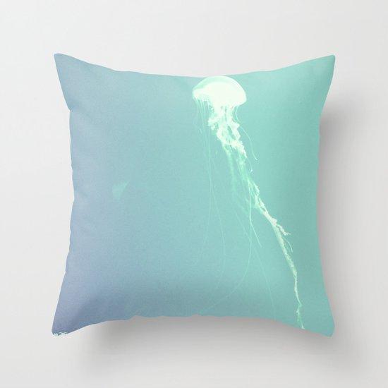 Pulsating Cnidaria. Throw Pillow