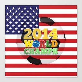 2014 World Champs Ball - USA Canvas Print