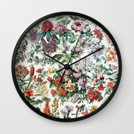 Adolphe Millot - Fleurs C - French vintage poster Wall Clock