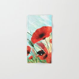 Poppies in the wind Hand & Bath Towel