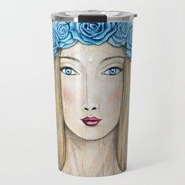 Blue Rose Priestess Travel Mug
