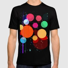Abstract Universe Black Mens Fitted Tee MEDIUM
