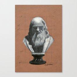 Leonardo Da Vinci Bust Portrait Canvas Print