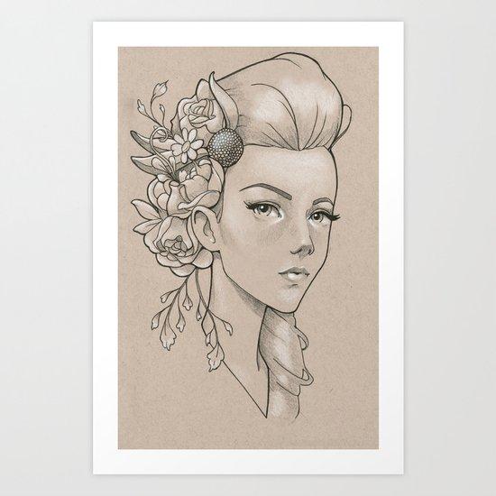 Practice sketch 2 Art Print