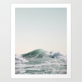 Waves and Sunrise Happy Summer Photography Ocean Beach Vibes Tropical Water Sea Art Print