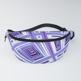 Plaid Splash Purple - Fractal Art Fanny Pack
