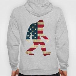Bigfoot american flag Hoody