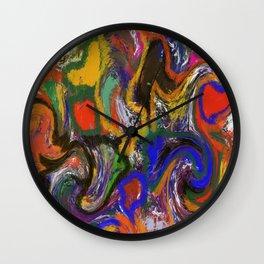 """""""Macchie di colore"""" Original Digital Art 2014 Wall Clock"""