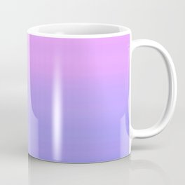 Pastel Pink Blue Stripes | Abstract gradient ombre pattern Coffee Mug