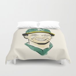 """Rickey """"The Man of Steal"""" Henderson Duvet Cover"""