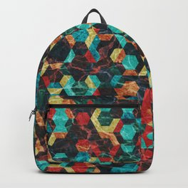 Colorful Half Hexagons Pattern #07 Backpack