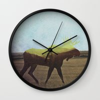 moose Wall Clocks featuring Moose by Andreas Lie
