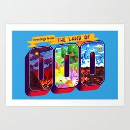 The Land Of OOO Art Print