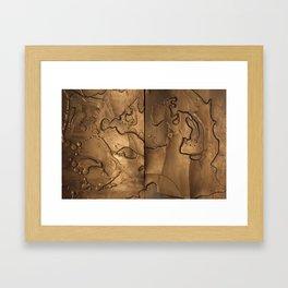 Wax 07 painting Framed Art Print