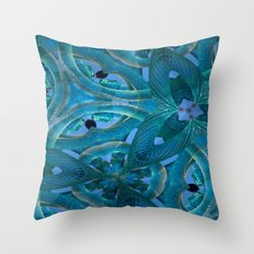 Glass Cogs In The Old Clock Throw Pillow