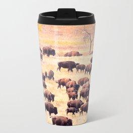 Buffalo Roundup at Custer State Park Metal Travel Mug