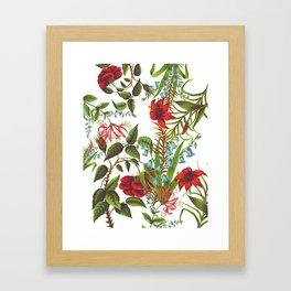 Ruby & Cerulean Floral Framed Art Print