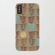 Pods and Seeds 2 on Linen iPhone X Slim Case