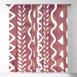 Loose boho chic pattern - purple brown Blackout Curtain