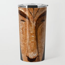 african Fang Ngil wooden mask Travel Mug