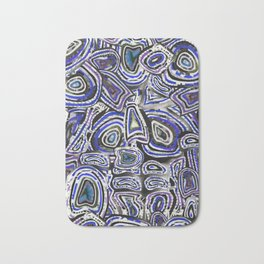 Space Travelling Ultraviolet Blue Purple Galaxy Bath Mat