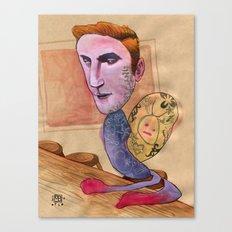 TATTOOED SNAIL DUDE Canvas Print