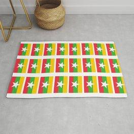 Flag of Myanmar 3-ဗမာ, မြန်မာ, Burma,Burmese,Myanmese,Naypyidaw, Yangon, Rangoon. Rug
