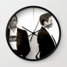 Cash Mugshot Wall Clock