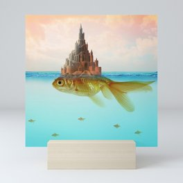 Goldfish Castle Island Mini Art Print