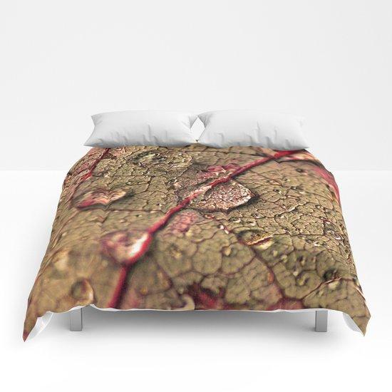 Water drops. Comforters