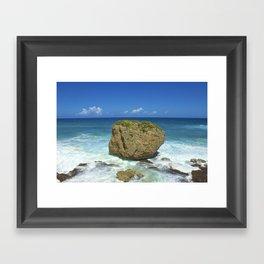 Unique Beach Scene San Juan Puerto Rico Framed Art Print