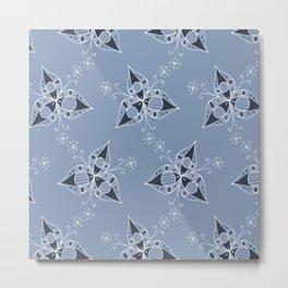 3 Petal Flower Pattern Metal Print