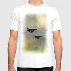 Tornadoes at Dawn MEDIUM Mens Fitted Tee White