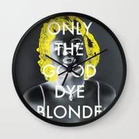blondie Wall Clocks featuring Blondie by Justin Catron