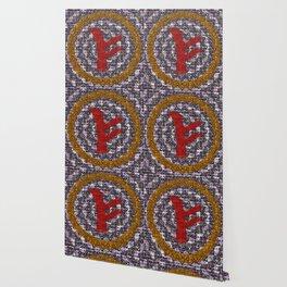 Rune Fehu Red Wallpaper