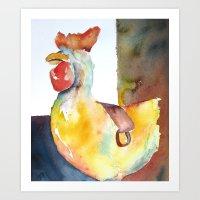 Un Pollo Grande Art Print