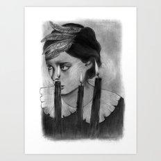 SACRED FLAMES Art Print