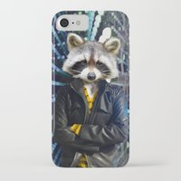 rocket raccoon iPhone & iPod Cases featuring ROCKET RACCOON by Walko