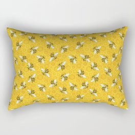 Bees and Honeycomb Beehive Honeybee Pattern Rectangular Pillow