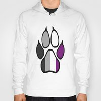 asexual Hoodies featuring Asexual Furry Pride by Jeymohr