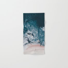 I love the sea - written on the beach Hand & Bath Towel
