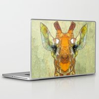 marley Laptop & iPad Skins featuring abstract giraffe calf by Ancello