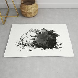 Chocobo Black Chick Rug