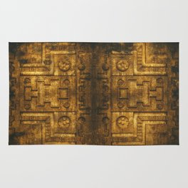 Architecture Wall of Aztec Ancestary Rug