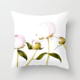 Peony Bulbs Throw Pillow