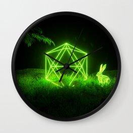 Icosahedron Hare Wall Clock